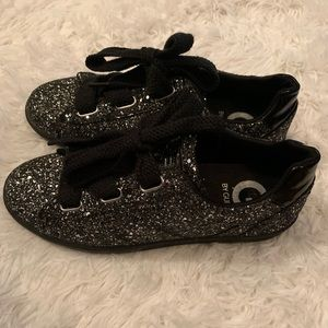 G By Guess black and silver glitter sparkle shoes